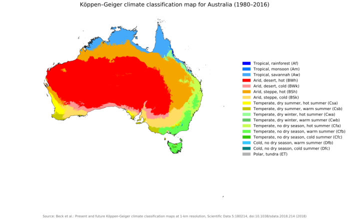 Australia Global Map.New Global 1 Km Resolution Koppen Geiger Climate Classification Maps