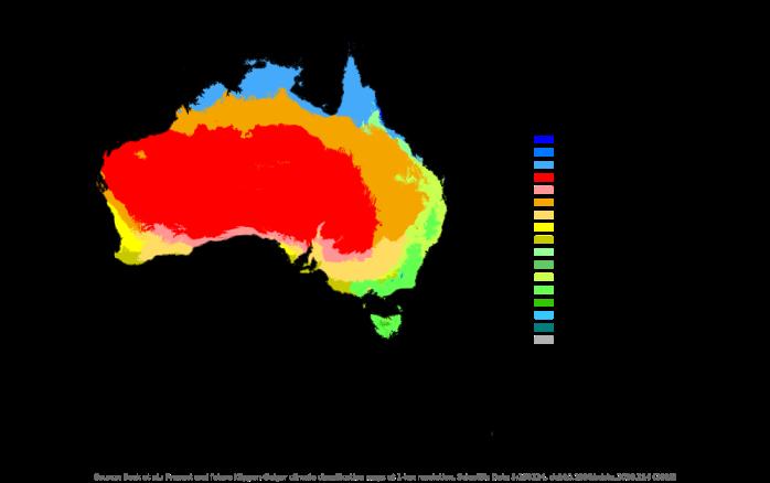 Australia Climate Map New global 1 km resolution Köppen Geiger climate classification