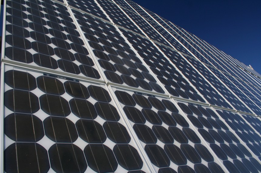 Solar panels, Montague Island NSW (Source: Robert Kerton).