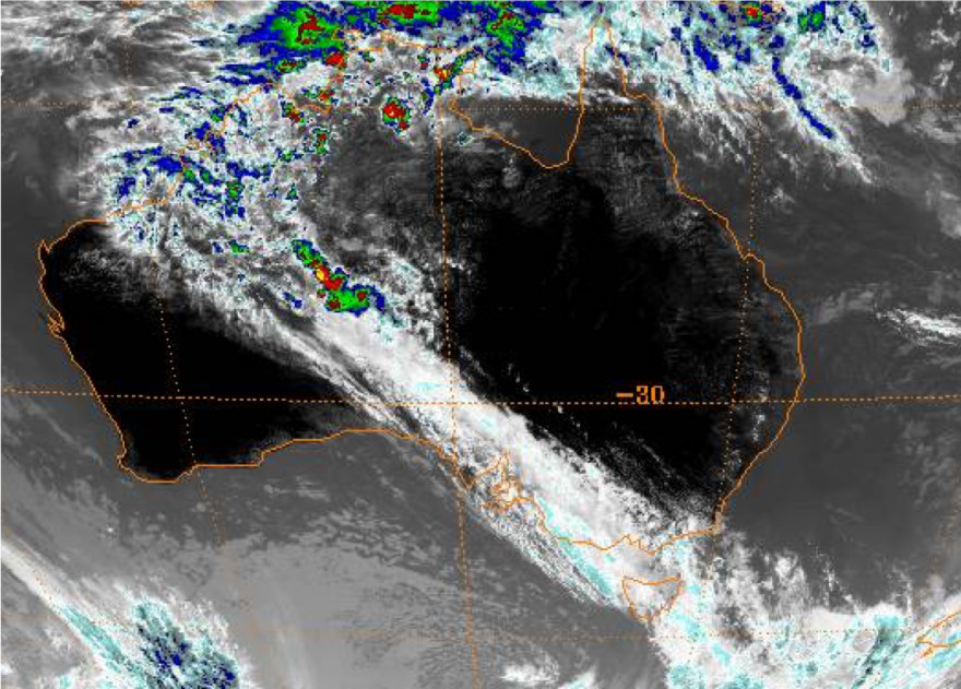Satellite image of northwest cloud band, 12 January 2010. Source: https://www.ncdc.noaa.gov/gibbs/year