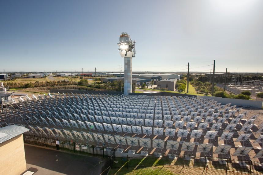 Solar array at the CSIRO. (Source: CSIRO)